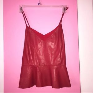 Red Leather Peplum Top ✨🌹✨